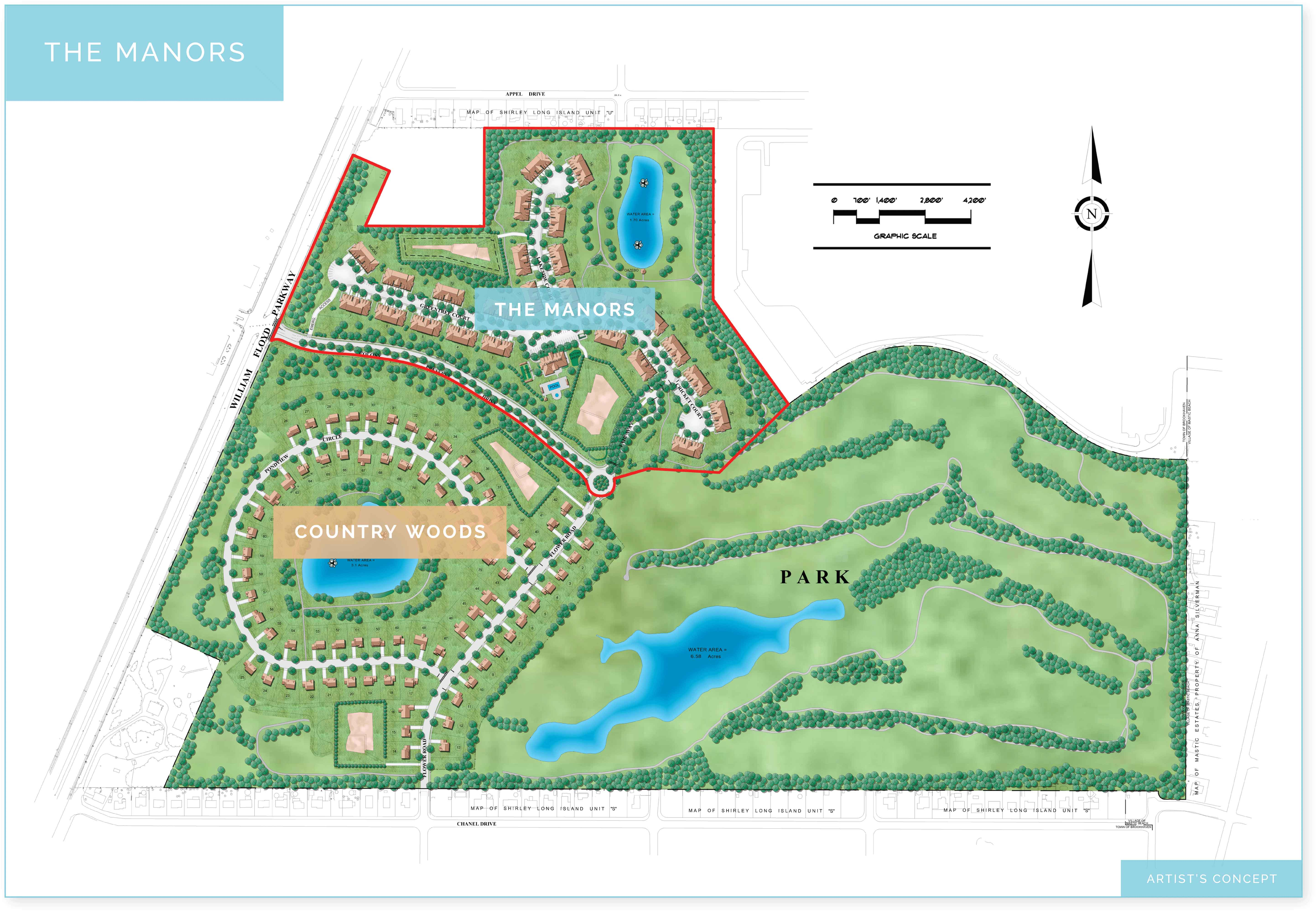 manors site map